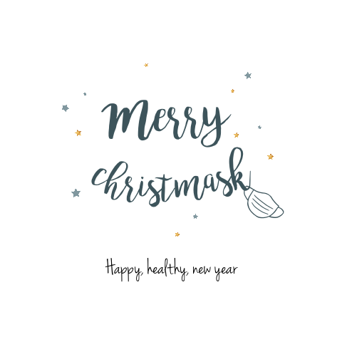 Merry Christmask happy healthy new year