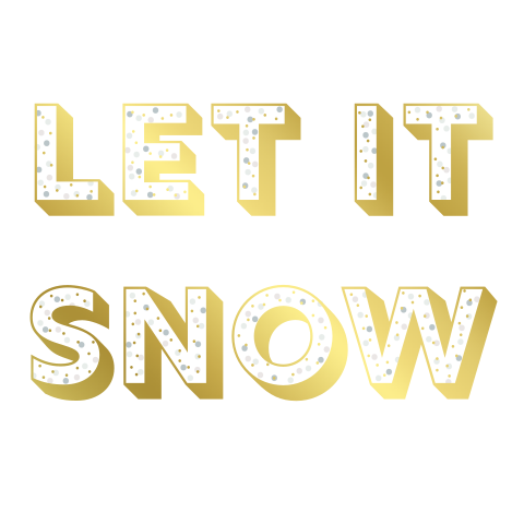 Moderne foliekaart Let it snow!