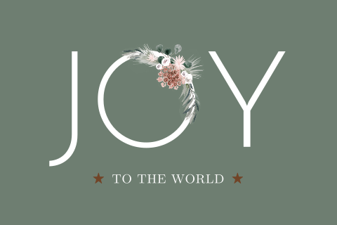 Nieuwjaarskaart Joy to the World